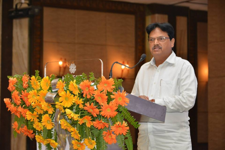 Hinble Minister Industries shri Niranjan Pujari, during the GO-SWIFT Workshop hosted to introduce industry associations of the unique features of the portal.