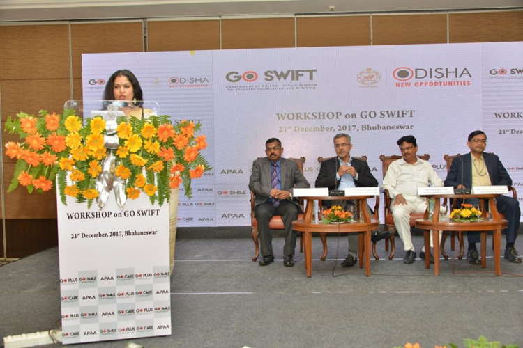 Delegates on the dias during GO-SWIFT Workshop hosted to introduce industry associations of the unique features of the portal.