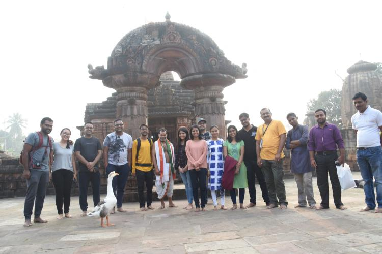Heritage Walk  in the Ekamra Heritage Area , Old Town Bhubaneswar