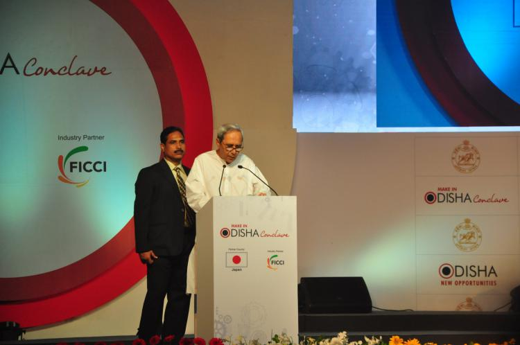 Honorable Chief Minister Shri Naveen Patnaik during Plenary and Business Leadership Summit