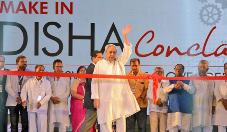 Chief Minister of Odisha Naveen Patnaik Inaugurating at Make in Odisha Conclave 2018.