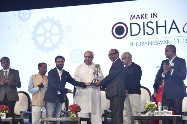 Prize distribution at Make In Odisha Conclave 2018 by Sri Nabeen Patnayak