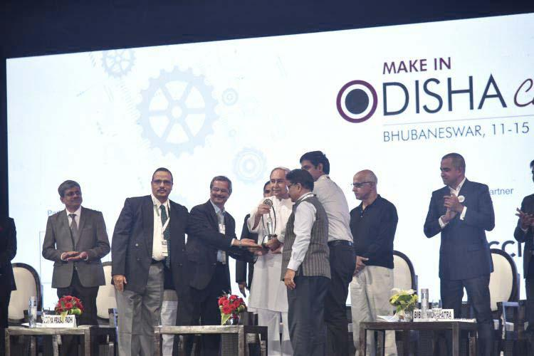 Prize distribution at Make In Odisha Conclave 2018.